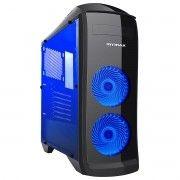 Gabinete Gamer Pegasus Preto 2 Fan 120mm com LED Azul Mymax