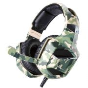 Headphone Gamer Camuflado 7.1 Surround Drive Stereo Super Bass Microfone Articulado p/ PS4 PC Celular XSoldado GH-X2700