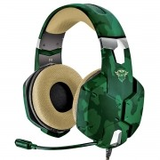 Headset Gaming Carus Multiplataforma Som Potente Drivers 50mm Cabo 2 metros Trust GXT 322C Jungle Camo Camuflado