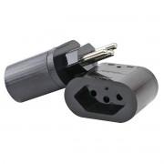 iClamper Pocket 3P 20A Bivolt DPS Clamper Preto Proteção Contra Raios e Surtos Elétricos para Eletroeletrônicos