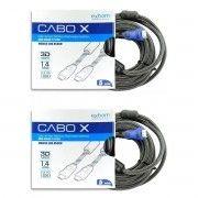 Kit 2x / Cabo HDMI de 5 metros Blindado com Filtro e Malha Versão 1.4 Suporte 3D Full HD 1080 Exbom CBX-H50CM