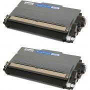 Kit 2x / Toner Compatível Brother TN750 TN720 3382 / DCP-8155 DCP-8112 HL-6182 DCP-8150 8512DN 8150DN / Preto / 8.000