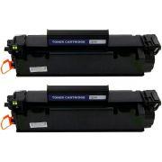Kit 2x / Toner Compatível HP CE278A / M1530 M1536 M1536DNF P1560 P1566 P1569 P1600 P1606 P1606N P1606DN / Preto / 1.800
