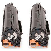 Kit 2x / Toner Compatível HP CE285A 285 / M1130 M1132 M1210 M1212 M1212NF P1102 P1102W 1102W 1130 1132 / Preto / 1.800