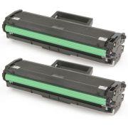 Kit 2x / Toner Compatível D101 MLT-D101S para Samsung ML-2160 2160W 2162G 2165 SCX-3400 SCX-3405FW / Preto / 1.500