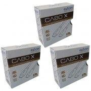 Kit 3x / Cabo HDMI Suporta 3D e 4K Ultra HD versão 2.0 19 Pinos Blindado com Filtro 5 Metros Exbom CBX-HX50SM