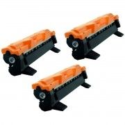 Kit 3x / Toner Compatível Brother TN1060 TN-1030 TN-1000 / DCP1612W DCP1612 HL1110 HL-1210W HL-1212W / Preto / 1.500