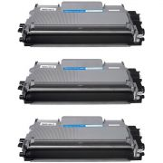 Compatível: Kit 3x Toner TN450/420/410 para Brother DCP-7055 DCP-7065 7060 MFC-7360 HL-2280dw 2250dn / Preto / 2.600