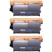 Kit 3x / Toner Compatível Brother TN450 TN420 TN410 / DCP-7055 DCP-7065 7060 MFC-7360 7460 HL-2130 2132 / Preto / 2.600