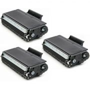 Kit 3x / Toner Compatível Brother TN-650 TN-620 / HL-5240 DCP-8060 8065 8085 8070 8660 8660DN 8460N 8080 / Preto / 8.000