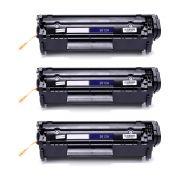 Kit 3x / Toner Compatível HP 2612 12A / 1012 1015 1020 1022 1022N 1022NW 3015 3020 3050N 3052 3055 M1005 / Preto / 2.000