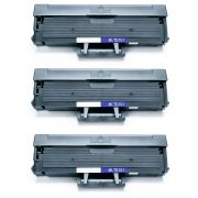 Kit 3x / Toner Compatível MLT-D101S para Samsung SCX-3400FW SCX-3405FW SCX-3401 ML-2165W ML-2162G / Preto / 1.500