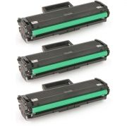 Kit 3x / Toner Compatível Samsung MLT-D111S / M2070 M2070W M2070FW M2022 M2022W M2020 M2020W M2020FW / Preto / 1.000