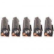 Kit 5x / Toner Compatível HP 35A 36A 85A / P1102W P1102 P1109W P1109 M1132 M1210 M1212 P1005 P1006 1212 / Preto / 1.800