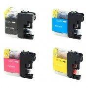 Kit Colorido 4 Cores / Cartucho de Tinta Compatível Brother LC103 LC105 LC107 / J4310 J4310DW J4510 J4510DW J6520 J6520DW