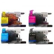 Kit Colorido 4 Cores Cartucho de Tinta Compatível Brother LC75 LC79 / J6910DW J430W J6710DW J432 J525 J925 J280 J5910
