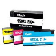 Compatível: Kit Colorido de Cartucho de Tinta 950xl 951xl para HP 8600 8600w 8100 8620 8610 251dw N911a N911g N811a N811