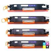 Kit Colorido 4 Cores / Toner Compatível 130A para impressora HP Laserjet 100 Color M175 M175A M175NW M175NW MFP