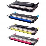 Kit Colorido 4 Cores / Toner Compatível CLT-407 407S para Samsung CLP-320 CLP-325 325W CLX-3185 3185N 3185FN 3185FW 3285