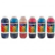 Kit Colorido 6 Cores / Tinta Pigmentada para impressora Epson L800 L805 L810 L850 L1800 / Refil 1kg cada