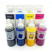 Compatível: Kit Colorido de Tinta Sublimática Laserteck para Sublimação para Epson L200 L355 L365 L375 L800 / 4x100ml