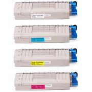 Kit Colorido de Toner Compatível com C710/711 para Impressora Okidata C710 C710N C710DN C710DTN C711 C711N C711DTN