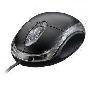 Mini Mouse USB 1000dpi Óptico LED Azul com Scroll Exbom MS-10 Preto
