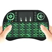 Mini Teclado e Touch Pad Wireless para TV Smart TV Box PC Notebook Celular Android - AirMouse I8.LED