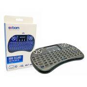 Mini Teclado Sem Fio com Led e Touchpad Ideal para Smart TV e TV Box Exbom BK-BTi8LED