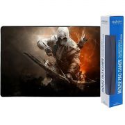 Mouse Pad Gamer Extra Grande 700x350x3mm Bordas Costuradas Base Antiderrapante Assassino Exbom MP-7035C