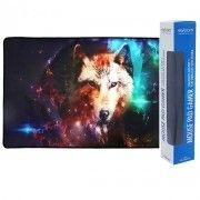 Mouse Pad Gamer Extra Grande 700x350x3mm Bordas Costuradas Base Antiderrapante Lobo Exbom MP-7035C