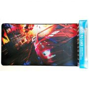 Mouse Pad Gamer Extra Grande 700x350x3mm Bordas Costuradas e Base Antiderrapante Modelo Carro de Corrida Exbom MP7035C