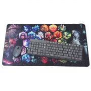 Mouse Pad Gamer Extra Grande 700x350x3mm com Bordas Costuradas e Base Antiderrapante Exbom MP7035 Heroes
