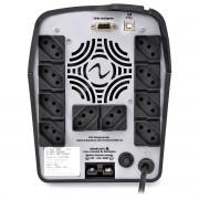 Nobreak 1600VA 1120W Senoidal Pura Display Digital 10 Tomadas Bivolt Conector de Bateria Externa USB Ragtech CBU-TI 4036