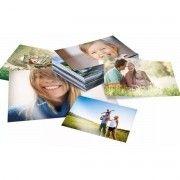 Papel Fotográfico Adesivo Glossy A4 130g Branco Brilhante Resistente à Água / 1000 folhas