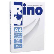 Papel Sulfite A4 210mm x 297mm 75g Branco Rino / Resma com 500 folhas