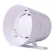 Sirene de Alarme 12V Piezo Elétrica 1 Som Alta Potência Branca A3059