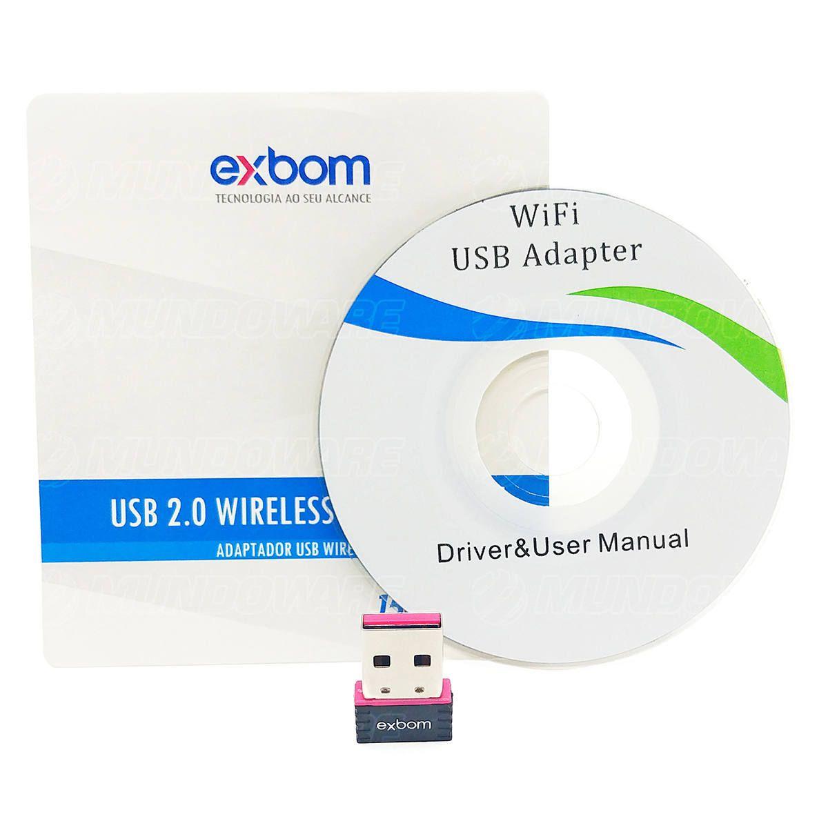 Adaptador USB Wireless Nano 150Mbps Exbom LV-UW01/RK