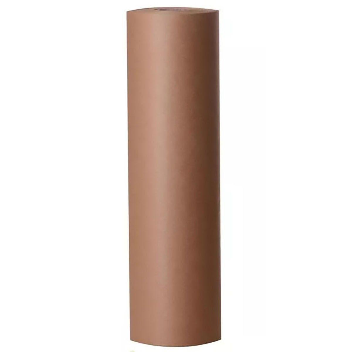 Bobina de Papel Kraft Pardo Puro 100% Celulose Monolúcido 80g 60cm x 130m