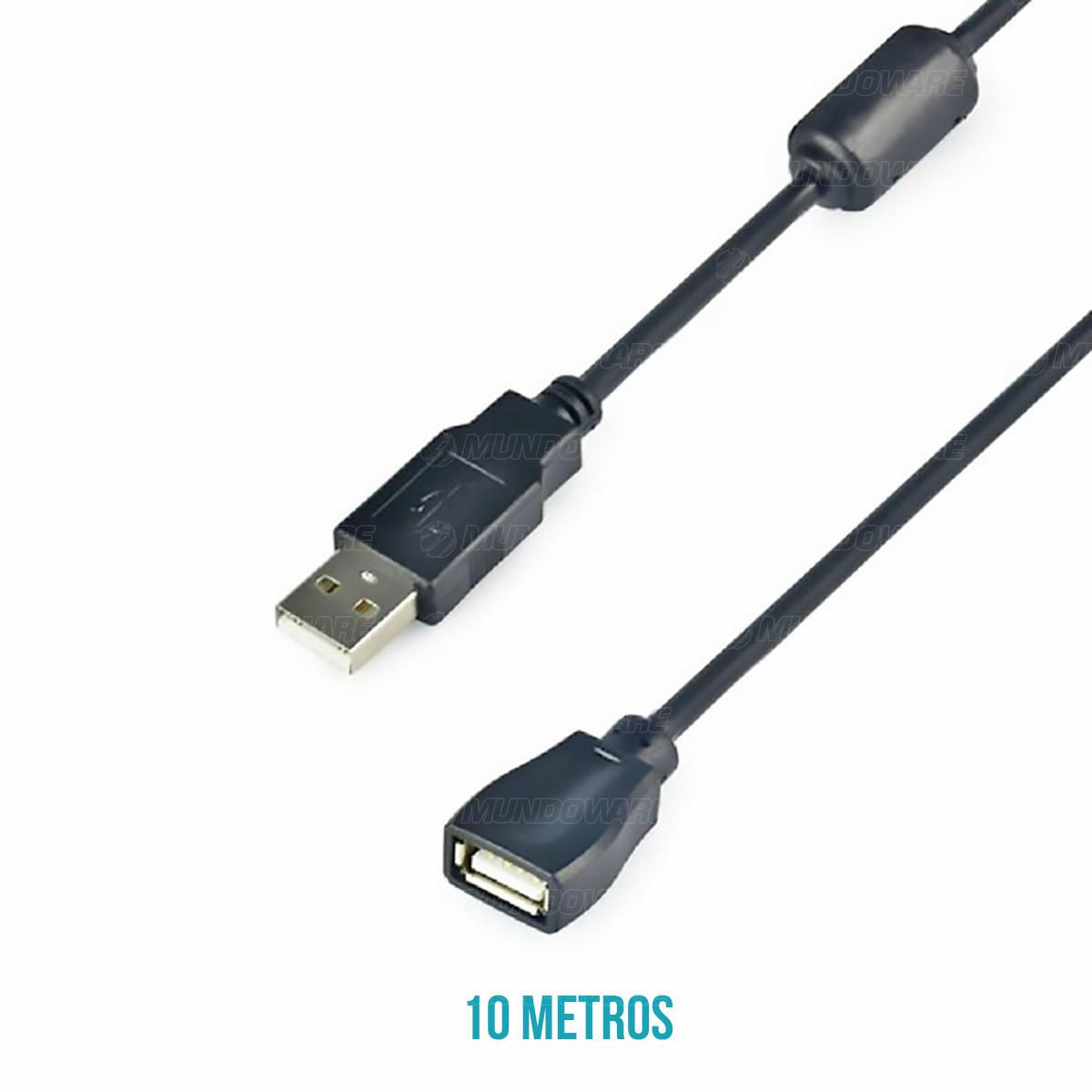 Cabo Extensor USB 10 metros AM+AF 2.0 com Filtro Exbom CBX-U2AMAF100