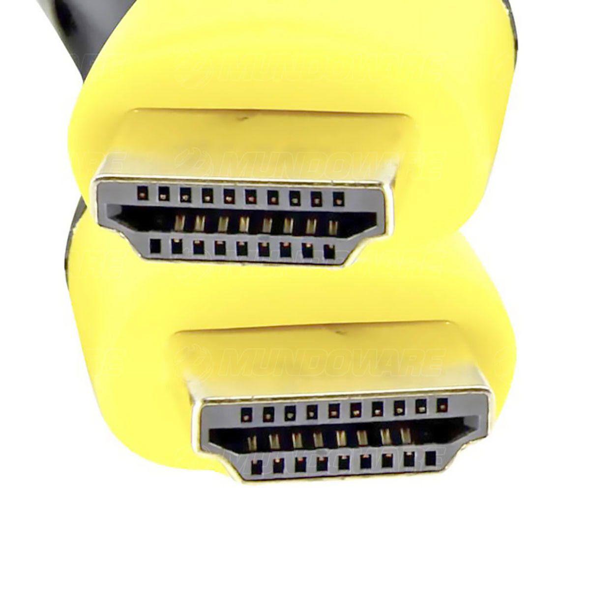 Cabo HDMI 4K UHD versão 2.0 19 Pinos Blindado com Filtro Suporta 3D 5 Metros Exbom CBX-HX50SM