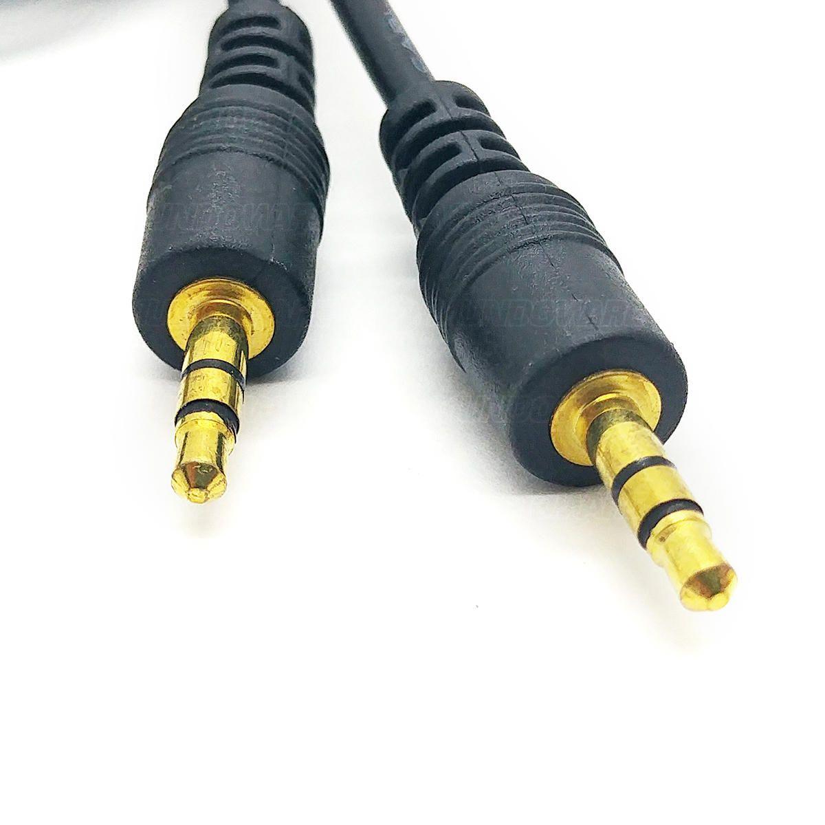 Cabo P2 de Áudio Auxiliar Som Estéreo com Pontas Douradas 3 metros Exbom CBX-A2P230