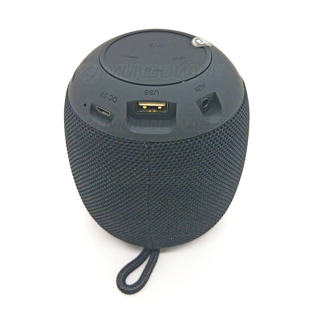 Caixa Bluetooth 4.2 Som Portátil 3W Entrada USB Micro SD Auxiliar P2 Rádio Função Atende Telefone XG4 Preta