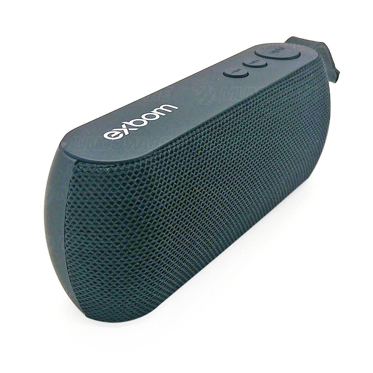 Caixa Portátil Bluetooth 3W com Rádio FM USB Micro SD Auxiliar Microfone Embutido Exbom CS-M29BT Preta