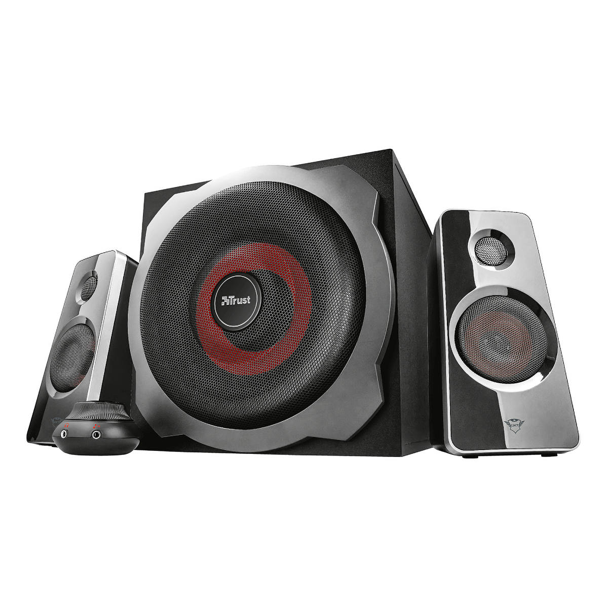 Caixa de Som 2.1 60W RMS Subwoofer Ultimate Bass Speaker Set Trust GXT 38 Tytan