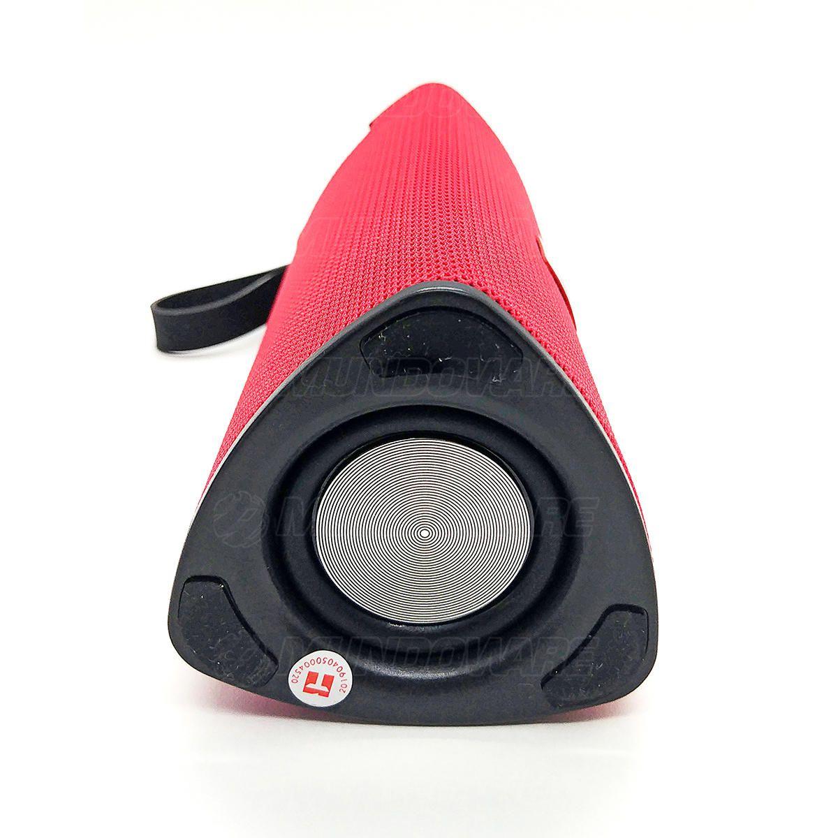 Caixa de Som Bluetooth 3.0 Portátil 10W Entrada USB Micro SD Auxiliar P2 Mic Hands Free Exbom CS-M33BT Vermelha