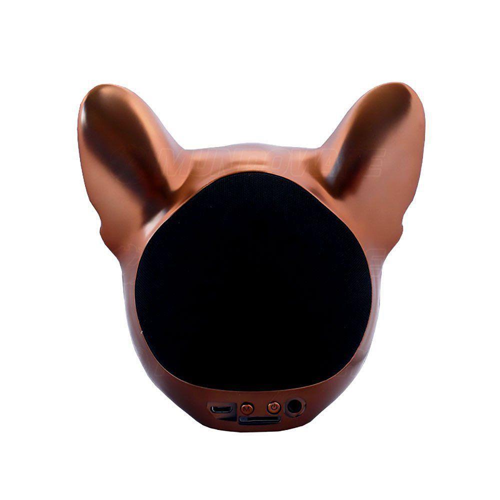 Caixa De Som Portátil com Bluetooth 10W RMS 2 Alto-Falantes + 1 Bass e Bateria Recarregável Bulldog Bronze