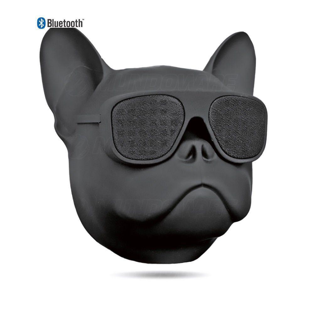 Caixa De Som Portátil com Bluetooth 10W RMS 2 Alto-Falantes + 1 Bass e Bateria Recarregável Bulldog Preto Fosco