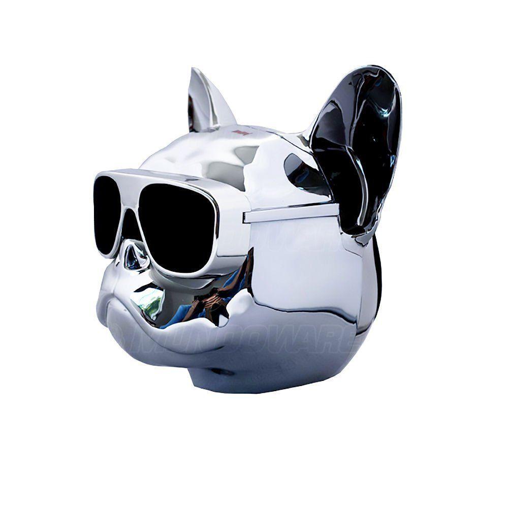 Caixa De Som Portátil com Bluetooth 10W RMS 2 Alto-Falantes + 1 Bass e Bateria Recarregável Bulldog Prata
