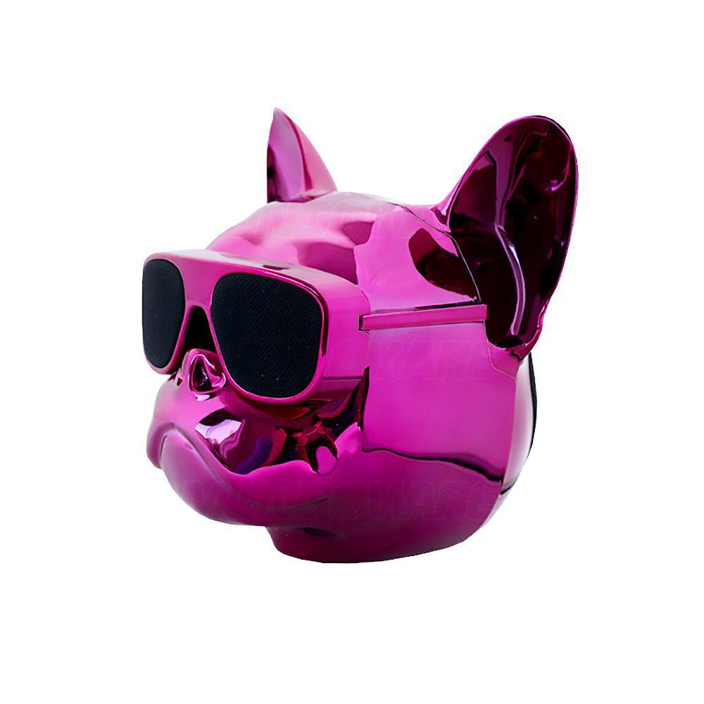 Caixa De Som Portátil com Bluetooth 10W RMS 2 Alto-Falantes + 1 Bass e Bateria Recarregável Bulldog Rosa Metálico